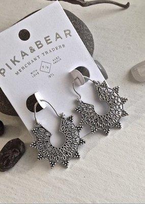 PIKA&BEAR Pika & Bear 'Anahita' Mandala Earrings