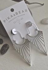 PIKA&BEAR Pika & Bear Earrings 'Helios' Geometric Drop Statement