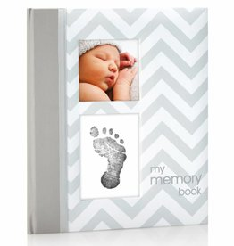 CHEVRON BABY BOOK-GREY
