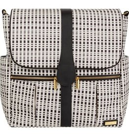 JJ COLE BACKPACK DIAPER BAG - BLACK AND CREAM