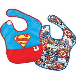 Bumkins BUMKINS SUPERHERO-SUPERMAN BIB 2 PK