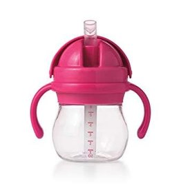OXO TOT STRAW CUP WITH HANDLES 6 OZ-PINK