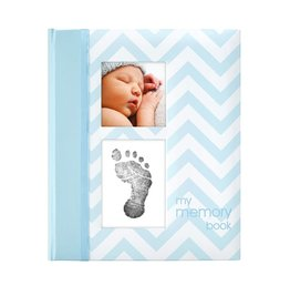 CHEVRON BABY BOOK-BLUE