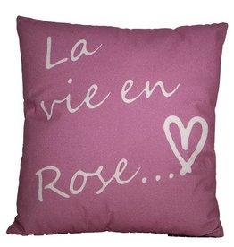 """Coussin """"La vie en rose"""""""