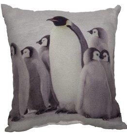 Mini coussin imprimé de pingouins ou d'un écureuil