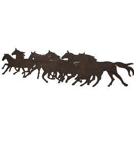 Décoration murale en chevaux métalliques