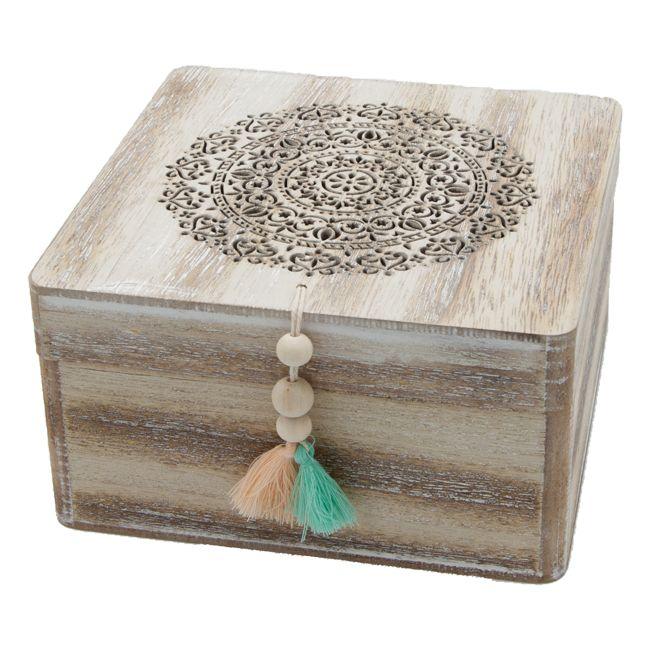 Boite à bijoux en bois de style oriental