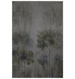 Gigantesque peinture diffuse d'arbres