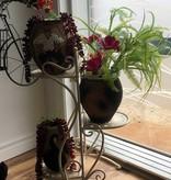 Support à plantes en métal à trois étages