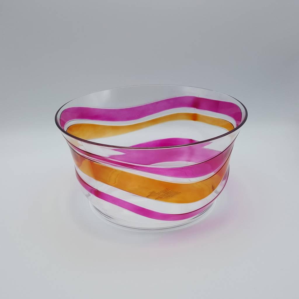 bol salade vague rose acrylique