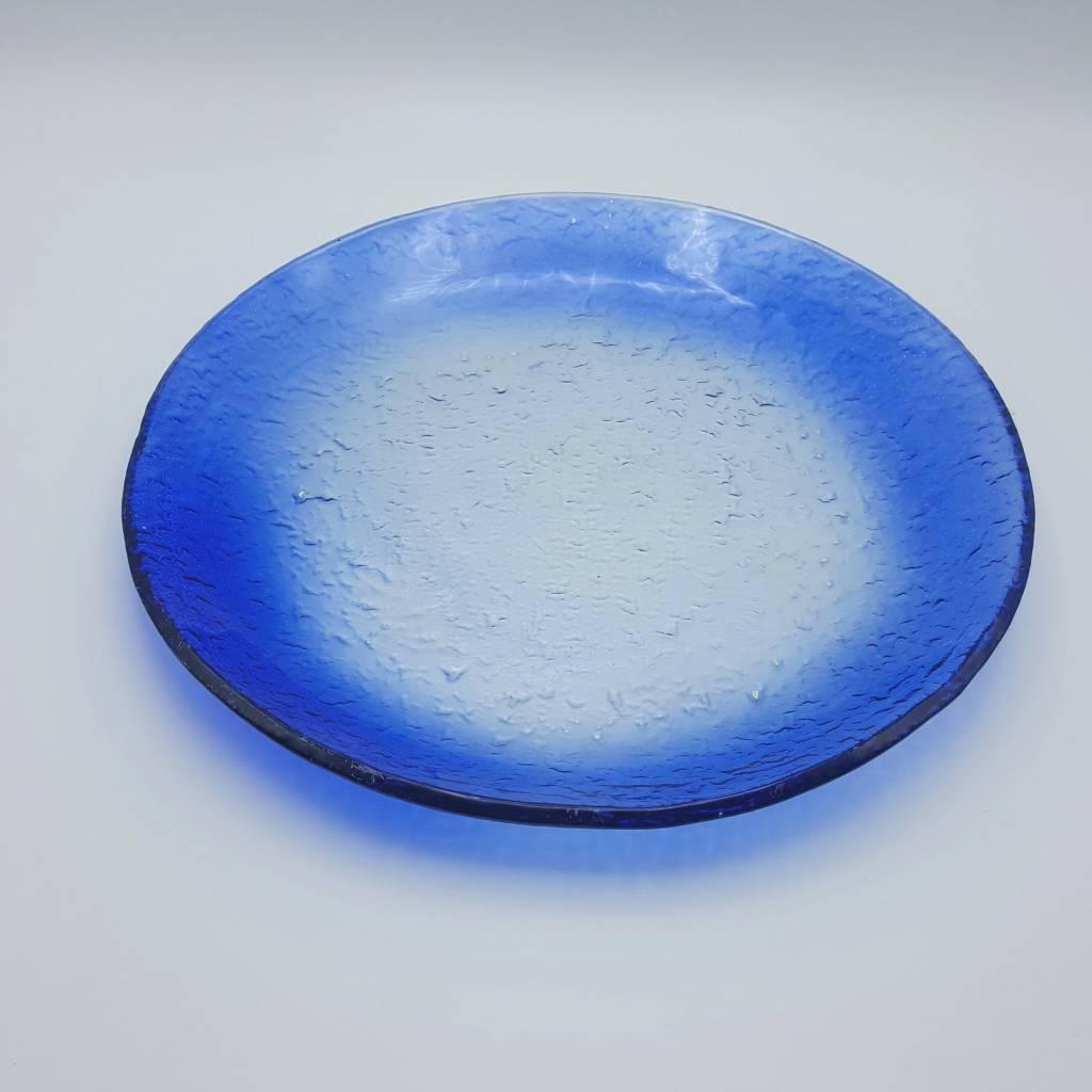 bleu plat rond  30cm