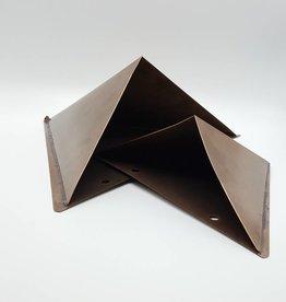 Duo de pots à plantes triangulaires muraux en cuivre