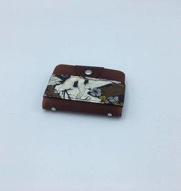 porte-cartes cuir-tissu