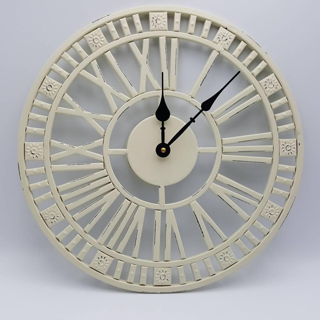 Horloge en métal - Noire ou crème