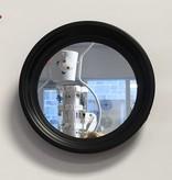 Trois miroirs ronds avec cadres noirs