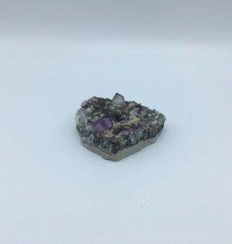 Cristaux de quartz et fluorite