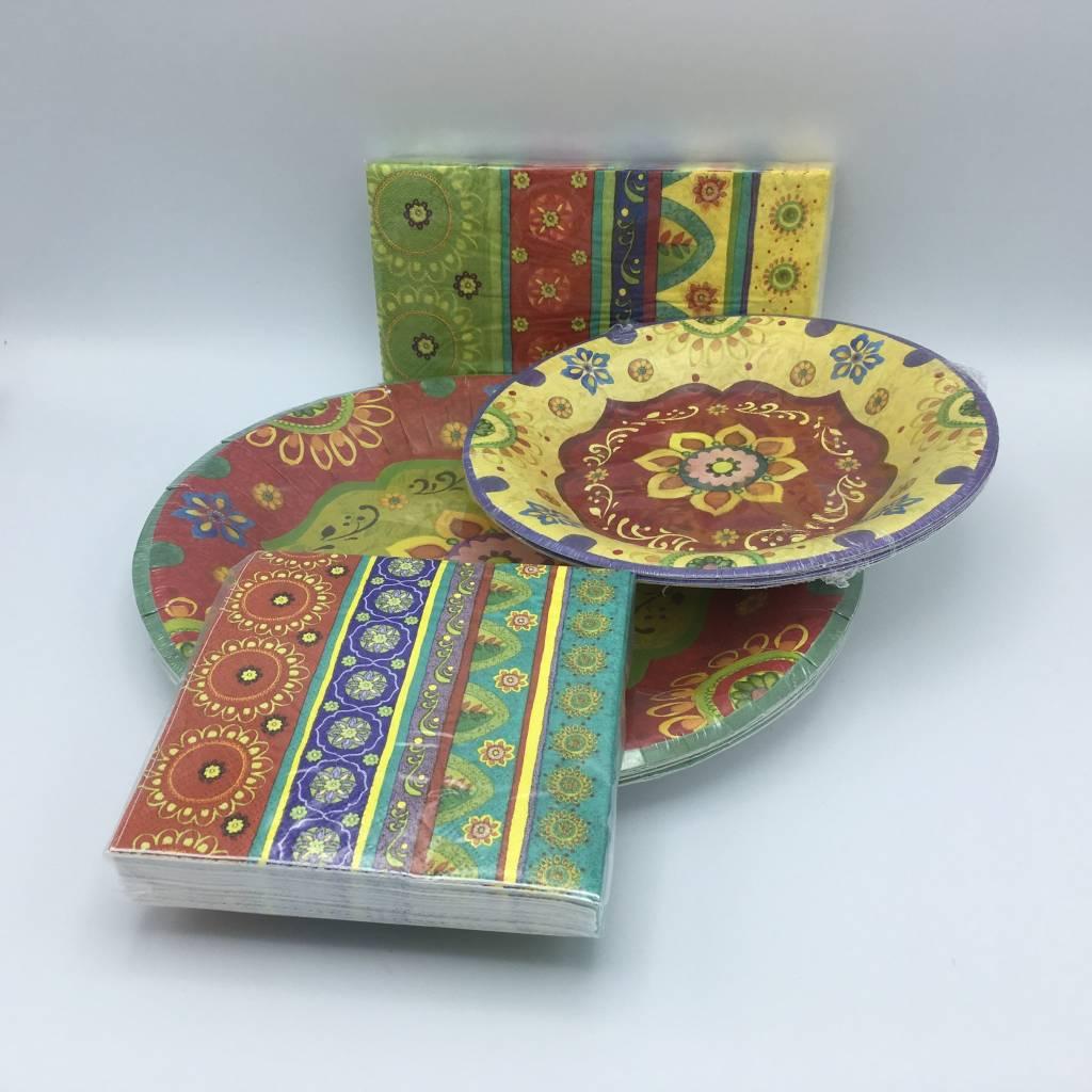 assiettes carton 16cm