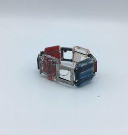 bracelet verre et étain
