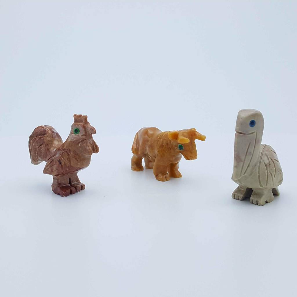 Mini animaux en roche stéatite