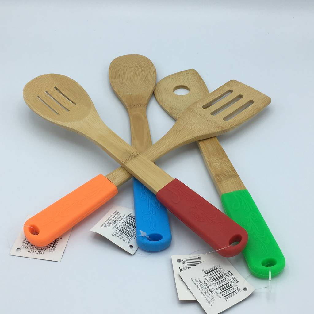 ustensiles pour cuisiner bambou et silicone