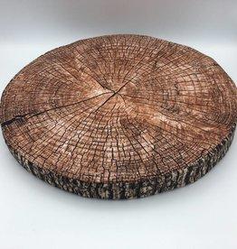 Coussin en forme de bûche de bois