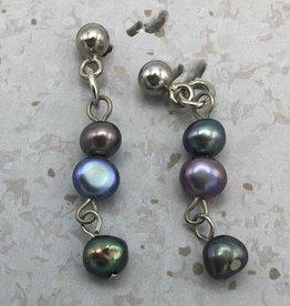 boucle d' oreilles perles eau douce