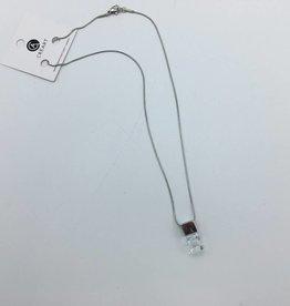 Chaine 18 po avec pendantif de verre