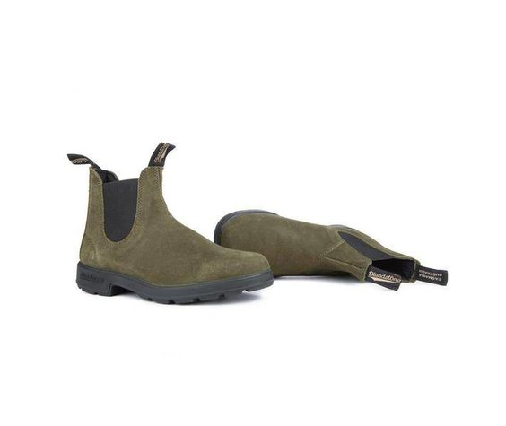 Blundstone Blundstone 1615 The Original In Dark Olive Suede