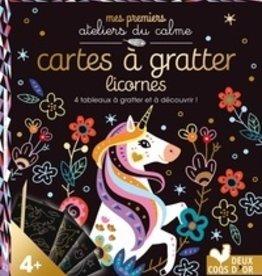 Livre Carte à gratter Licornes