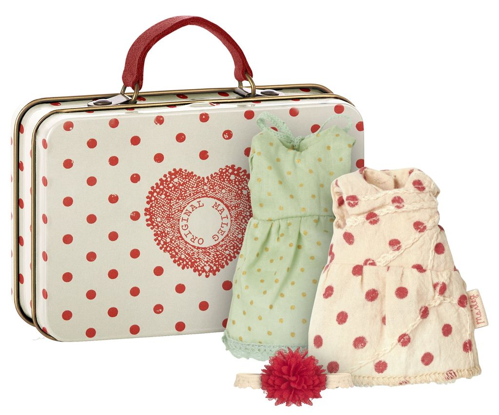 Maileg Suitcase with clothes