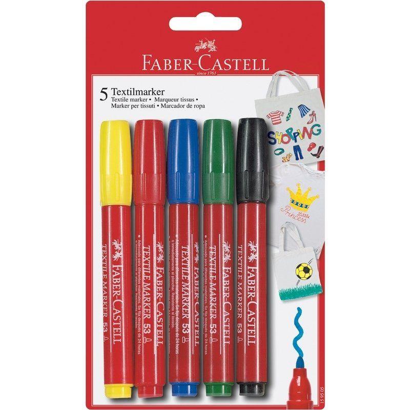 Faber-Castell 10 markers à tissu