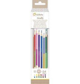 Avenue Mandarine Tube de 12 crayons double embouts