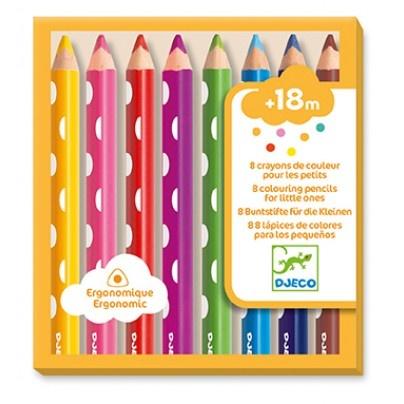 Djeco 8 crayons de couleurs pour petits