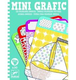 Djeco Fichas para colorear Mini Graphic