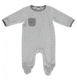 Vêtements Pyjama gris étoilé taille 3 mois