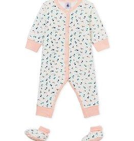 Petit bateau Combinaison pyjama et chausson taille 3 mois