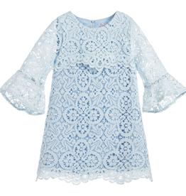 Patachou Robe de dentelle bleu- taille 8 ans