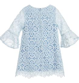Patachou Robe de dentelle bleue- taille 5 ans
