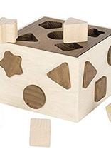 Goki Boite à Forme Bicolore en bois