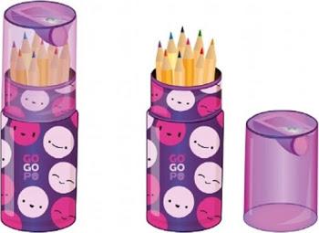 Accessoires Crayons de couleur avec taille-crayon - Go Go Po