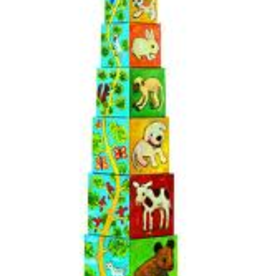 Djeco Animals - numbers Cubes Set
