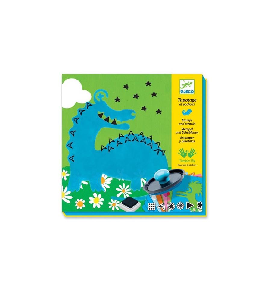 Djeco Tapotages Dino-Monstres