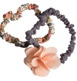 Maileg Melon colored flower hair elastics