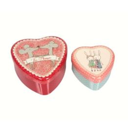 Maileg Boîtes de métal coeur