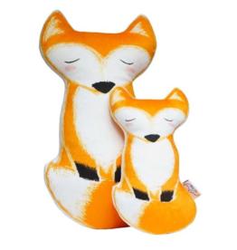Petit Loulou Small fox pillow «Amis de la forêt» Petit Loulou