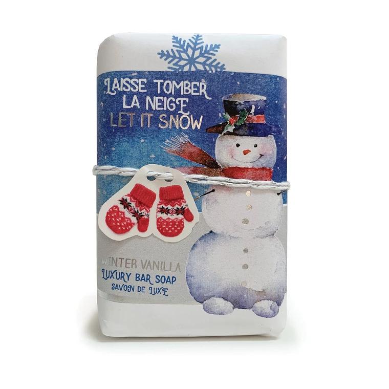Produits de soin Savon Laisse tomber la neige parfumé à la vanille<br /> Mistral