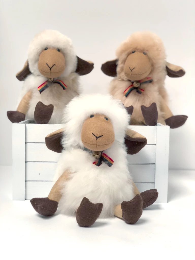 Peluche Peluche mouton en laine d'alpagas<br /> Shupaca