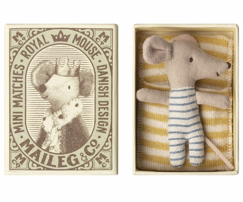 Maileg Bébé souris dans une boîte d'allumette