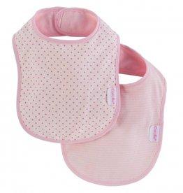 Corolle Pink Cotton Flower Bib Set