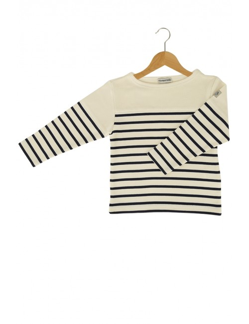 Armor Lux Long-sleeve T-shirt navy and beige Size 4 years